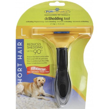Фурминатор (расчёска-триммер) для собак, желтый, ширина лезвия 10 см