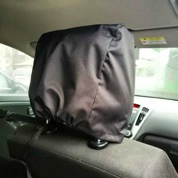 Чехол на подголовник сиденья автомобиля влагоотталкивающий, чёрный, однослойный, 32*32*25 см
