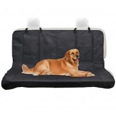 Автомобильная накидка (гамак) на заднее сиденье для перевозки собак, чёрная, однослойная, 145*125 см