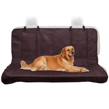 Автомобильная накидка (гамак) на заднее сиденье для перевозки собак, коричневая, однослойная, 145*125см