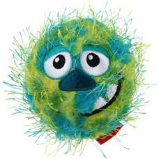 Мяч плюшевый теннисный GiGwi Crazy Ball, зелёный, 70мм