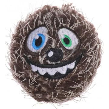 Мяч плюшевый теннисный GiGwi Crazy Ball, коричневый, 70мм