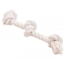 Канатный грейфер, 3 узла, белый Dental Knot, 350*16 мм для собак