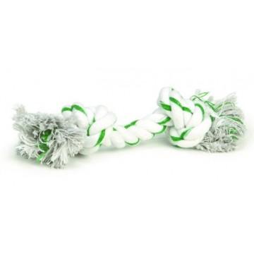 Канат Beeztees с 2-мя узлами, мятный вкус, бело-зеленый, 320мм