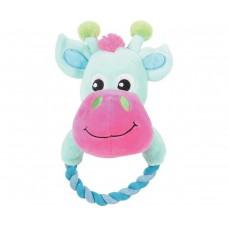 """Мягкая игрушка для собак """"Корова с кольцом"""", 20 см"""