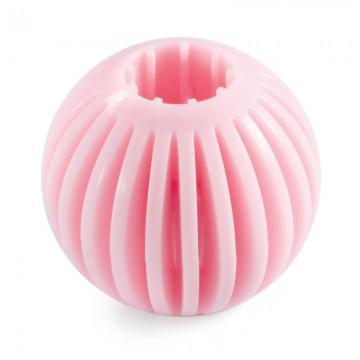 Мяч розовый для щенков из термопластичной резины PUPPY, 55 мм