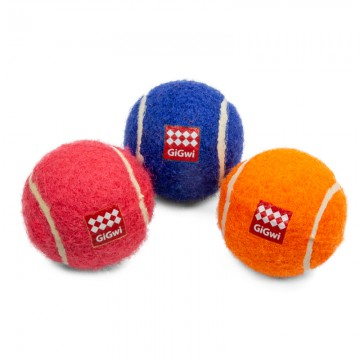Мячи с пищалками, 3 шт. в комплекте, 48 мм, серия CATCH & FETCH, GiGwi