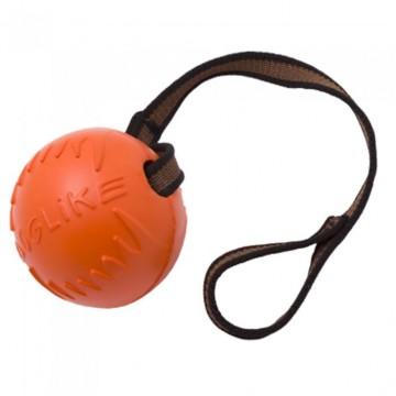 Мяч с лентой большой, для собак, 100 мм (2-й сорт)