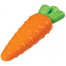 Морковка из термопластичной резины с пищалкой, прочная, Triol, 200 мм