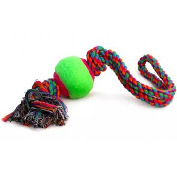 Канат с петлёй, 2 узла и мяч, 65*450мм