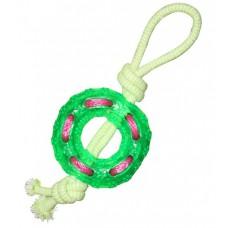 """Игрушка для собак """"Кольцо с веревкой"""", 120*360 мм"""