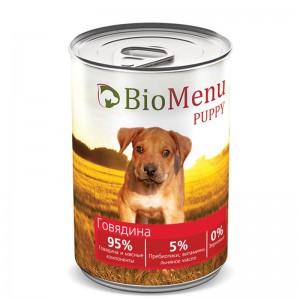 """Консервы для щенков """"Говядина"""", BioMenu PUPPY, 410 гр."""