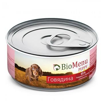 """Консервы для щенков """"Говядина"""", BioMenu PUPPY, 100 гр."""