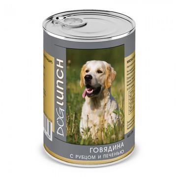 """Консервы для собак """"Говядина с Рубцом и Печенью"""", Dog Lunch, 410 гр."""