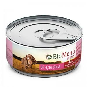 """Консервы для щенков """"Индейка"""", BioMenu PUPPY, 100 гр."""