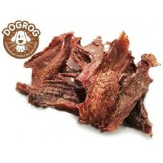 Натуральное лакомство для собак. Щётка сушёная говяжья (подъязычный срез), в упаковке - 100 гр.