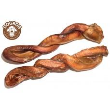Натуральное лакомство для собак. Косичка из бычьего корня сушёная, 35 см, в упаковке - 1 шт.