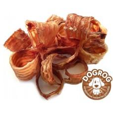Натуральное лакомство для собак. Трахеи сушёные говяжьи, в упаковке - 100 гр.