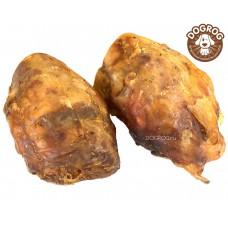 Натуральное лакомство для собак. Колено говяжье сушёное большое 15 см, в упаковке - 1 шт.