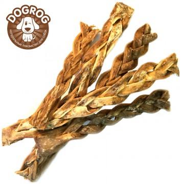 Косички из кожи северного оленя сушёные, 100 гр.