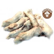 Натуральное лакомство для собак. Лапки кроличьи сушёные, в упаковке - 100 гр.