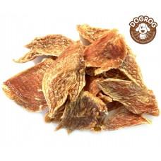 Натуральное лакомство для собак. Куриные дольки (соломка) сушёные, в упаковке - 100 гр.