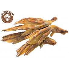 Натуральное лакомство для собак. Лапы (ласты) утиные сушёные, в упаковке - 100 гр.