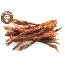 Натуральное лакомство для собак. Жилы с голени северного оленя вяленые, (15-20 см), в упаковке - 100 гр.