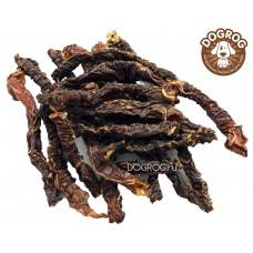 Натуральное лакомство для собак. Пикальное сушёное ягнёнка (мясо пищевода), в упаковке - 100 гр.