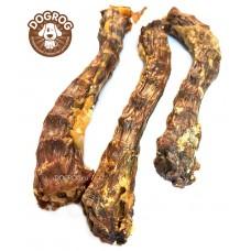 Натуральное лакомство для собак. Шейки утиные сушёные, в упаковке - 100 гр.