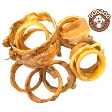 Натуральное лакомство для собак. Жилы-кольца вяленые северного оленя, в упаковке - 100 гр.