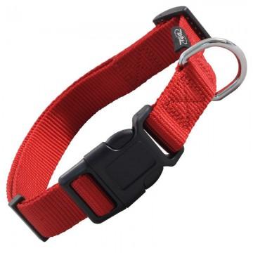 Ошейник нейлоновый L, красный, для собак, 45-68 см