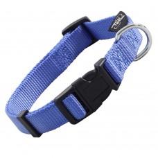 Ошейник нейлоновый M, синий, для собак, 34-49 см