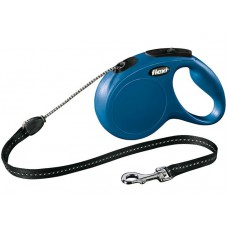 Рулетка-поводок Flexi New Classic cord - трос S - для собак до 12 кг.