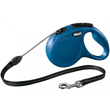 Рулетка Flexi New Classic cord - трос S - для собак до 12 кг, 5 метров